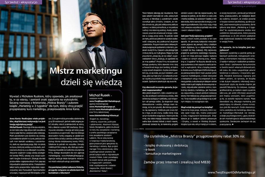 Mistrz marketingu dzieli się wiedzą – wywiad z Michałem Ruskiem